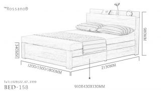 giường ngủ rossano BED 158