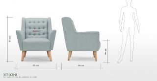 Sofa rossano 1 seater 9
